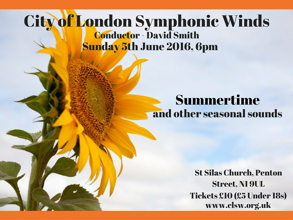 City of London Symphonic Winds Summer 2016