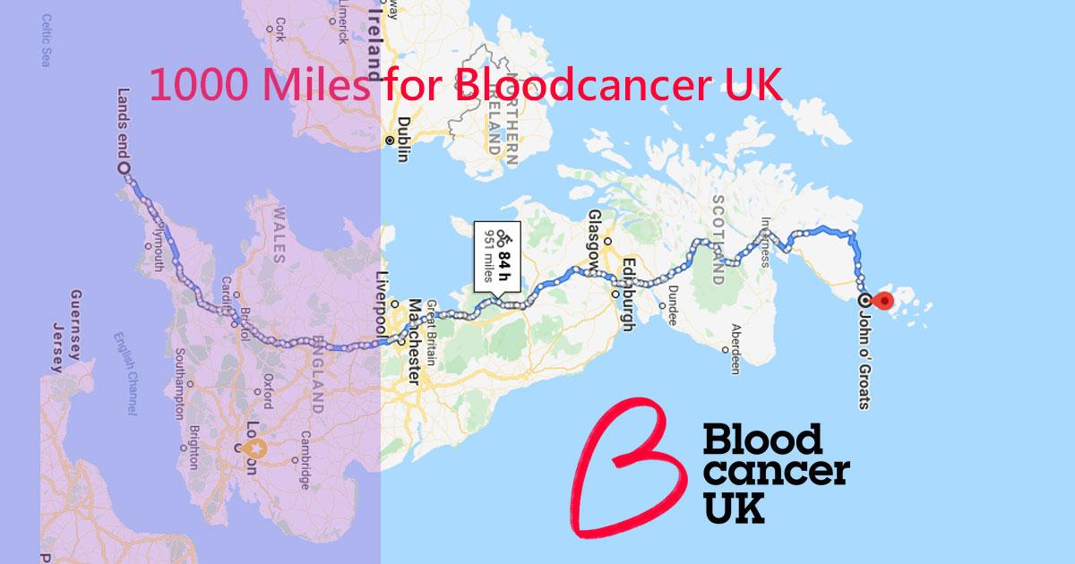 1000 miles for Blood Cancer UK