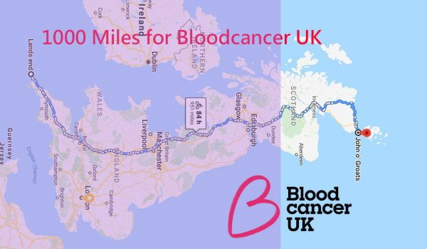 1000 Miles for Blood Cancer UK